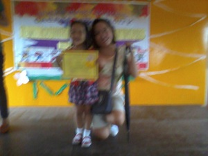 Blurry but super proud mom here!