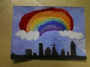 Heaven's Skyline with a Rainbow