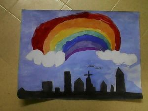 Heaven's Skyline with a Rainbow